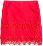 Daisy lace skirt at Jcrew at J. Crew