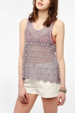 Daisy lace swing tank at Urban Outfitters at Urban Outfitters