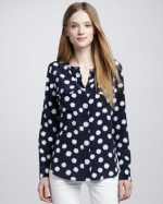 Daisy print Lynn blouse by Equipment at Neiman Marcus