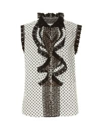 Daisy-print lace-trimmed top at Matches