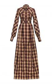 Dallas Western Checked Cotton Maxi Dress by Lena Hoschek at Moda Operandi
