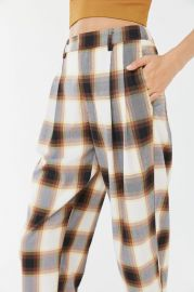 Dalton Pleated Mid-Rise Trouser Pant at Urban Outfitters