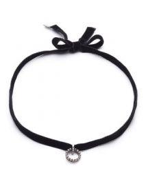 Dannijo Vix Velvet Choker Necklace at Neiman Marcus