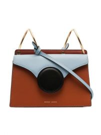 Danse Lente Brown And Blue Phoebe Mini Leather Crossbody Bag - Farfetch at Farfetch