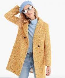 Daphne Coat in Italian Tweed at J. Crew