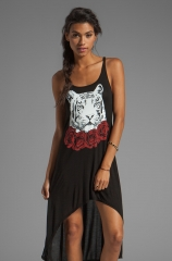 Daria Red Rose Tiger Tank Dress by Lauren Moshi at Revolve