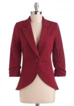 Dark red blazer like Reginas from Modcloth at Modcloth