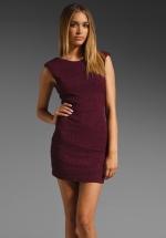 Dark red mini dress like Janes at Revolve