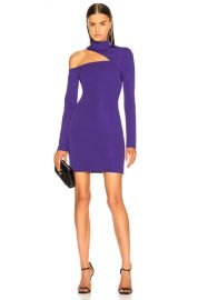 David Koma Cutout Jersey Dress in Purple   FWRD at Forward