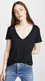 David Lerner Super Deep V Neck Tee at Shopbop