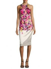 David Meister - Mikado Print Dress at Saks Fifth Avenue