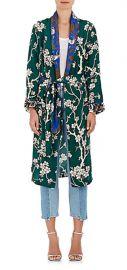 Dawnridge Floral Twill Robe by Warm at Barneys