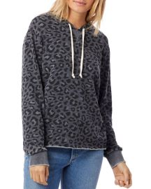 Day Off Printed Burnout French Terry Hoodie by Alternative at Alternative
