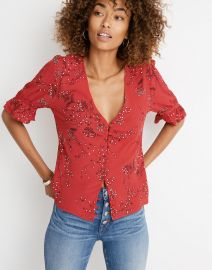 Daylight Top in Windswept Floral at Madewell