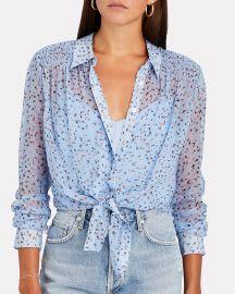 Dazed Silk Floral Button-Down Shirt at Intermix
