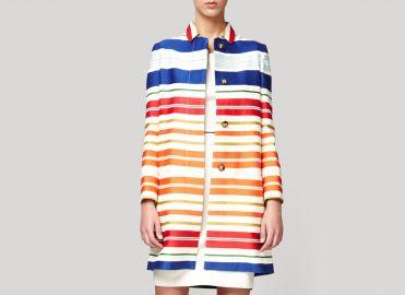 Deckchair Stripe Coat by Stella McCartney at Stella McCartney