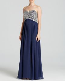 Decode 1.8 Strapless Embellished Bodice & Chiffon Skirt Gown at Bloomingdales