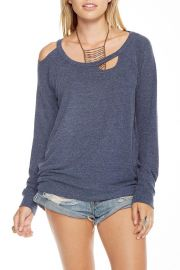 Deconstructed Raglan Pullover Top by Chaser at Shoptiques
