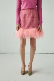 Decorum Feather Skirt at Rachel Comey