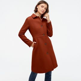 Deep Redwood Classic Lady Coat at J. Crew