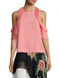 Delfi Collective - Everly Pleated Cold-Shoulder Top at Saks Off 5th