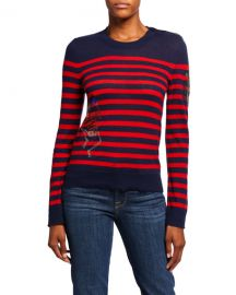 Delly Striped Embellished Sweater by Zadig Voltaire at Last Call