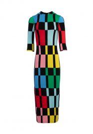 Delora Fitted Mock Neck Midi Dress at Alice + Olivia
