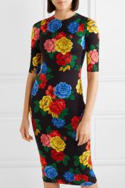 Delora floral-print stretch-jersey midi dress at Net A Porter