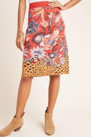 Delphinia Knit Pencil Skirt by Maeve at Anthropologie