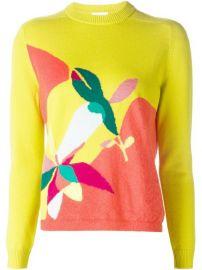 Delpozo Intarsia Print Sweater - at Farfetch