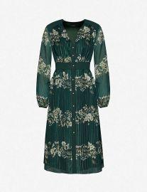 Delyla Meadow Sweep floral chiffon midi dress at Selfridges