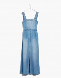 Denim Apron Bow-Back Jumpsuit at Madewell