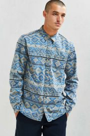Denim Blanket Stripe Button-Down Shirt at Urban Outfitters