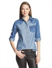 Denim Colorblock Shirt by Levis at Amazon
