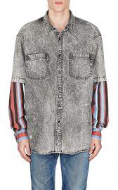 Denim Layered-Look Shirt by Balenciaga at Barneys