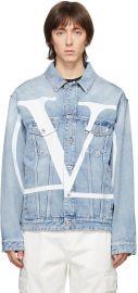 Denim Logo Jacket by Valentino at Ssense