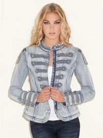 Denim Marching Jacket at Guess
