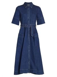 Denim Midi Shirtdress by Co at Saks Fifth Avenue