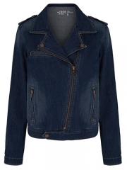 Denim Moto Vest at Gap