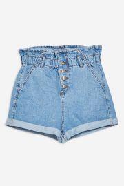 Denim Paperbag Shorts by Topshop at Topshop