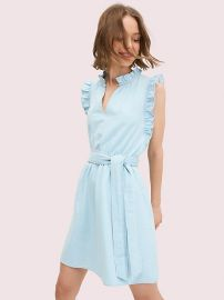 Denim Ruffle Dress at Kate Spade