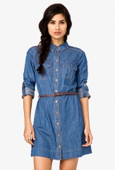 Denim Shirtdress at Forever 21