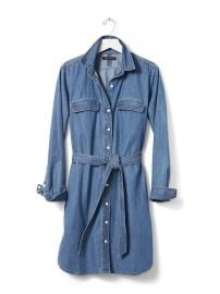 Denim Shirtdress at Banana Republic