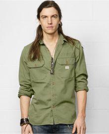 Denim Supply Ralph Lauren Military-Inspired Sport Shirt at Macys
