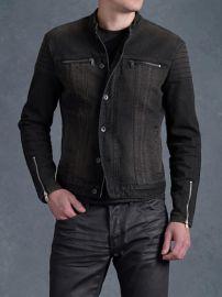 Denim Trapunto Jacket at John Varvatos