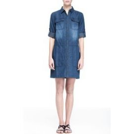 Denim Utility Shirtdress at Armani Exchange