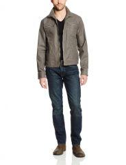 Denim Zip Pocket Jacket by John Varvatos at Amazon