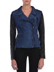 Denim and Leather Jacket by Blank NYC at Designs by Stephene