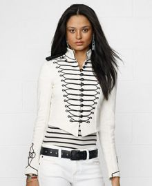 Denim and Supply Ralph Lauren Embroidered Cropped Military Jacket at Macys
