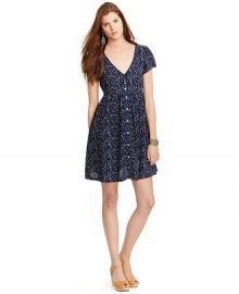 Denim and Supply Ralph Lauren Floral-Print Button-Front Dress in Blue at Macys